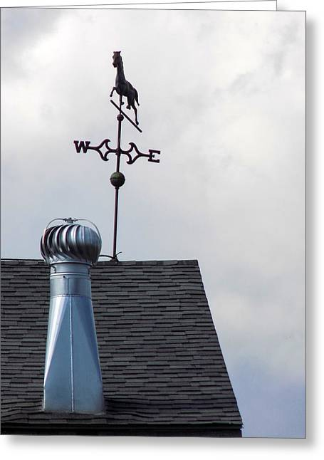 Maine Agriculture Greeting Cards - Barn Weathervane Greeting Card by William Tasker