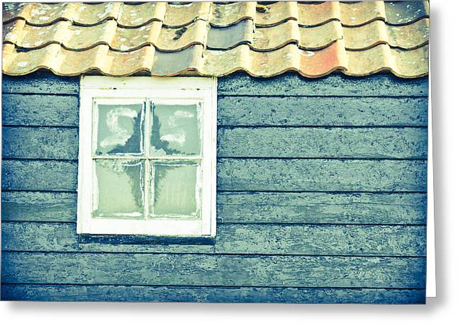 Red Tile Roof Greeting Cards - Barn widnow Greeting Card by Tom Gowanlock