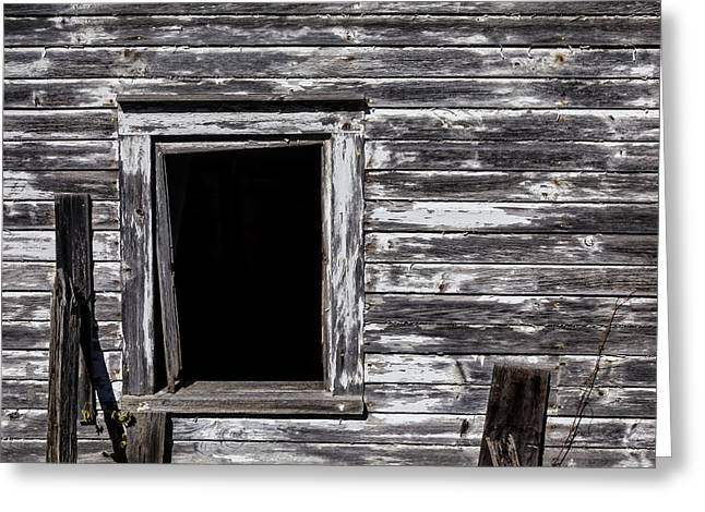 White Barns Greeting Cards - Barn Window Greeting Card by Garry Gay