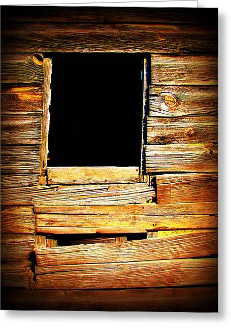 Classic Barn Greeting Cards - Barn Window Greeting Card by Perry Webster