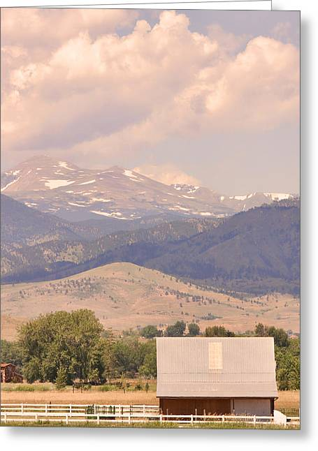 Striking Images Greeting Cards - Barn with a Rocky Mountain View  Greeting Card by James BO  Insogna