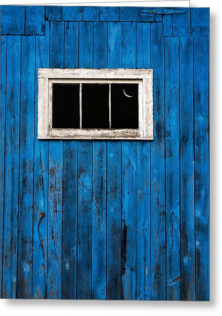 Old Barns Greeting Cards - Barn Wood Blues Greeting Card by Bill Wakeley