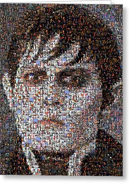 Barnabas Collins Johnny Depp Mosaic Greeting Card by Paul Van Scott