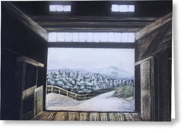 Barndoor View Greeting Card by Grace Keown