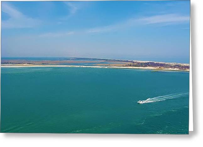 Barnegat Light Greeting Cards - Barnegat Inlet Greeting Card by Bill Cannon