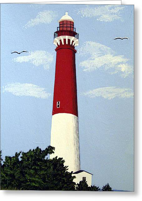 Recently Sold -  - Historic Architecture Greeting Cards - Barnegat Lighthouse Greeting Card by Frederic Kohli