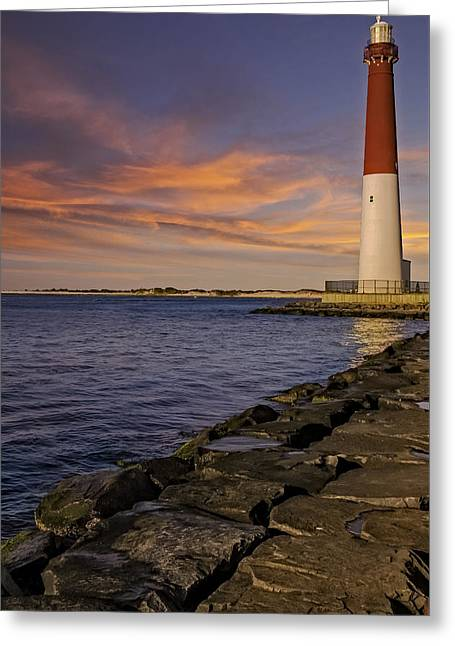Barnegat Light Greeting Cards - Barnegat Lighthouse Greeting Card by Susan Candelario