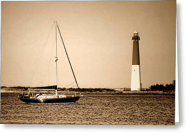 Maritime Classics Greeting Cards - Barnegat Memories Greeting Card by Olivier Le Queinec