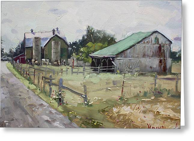 Barns And Old Shack In Norval Greeting Card by Ylli Haruni