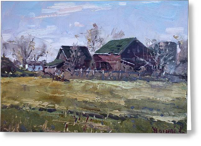 Barns In Niagara County Greeting Card by Ylli Haruni