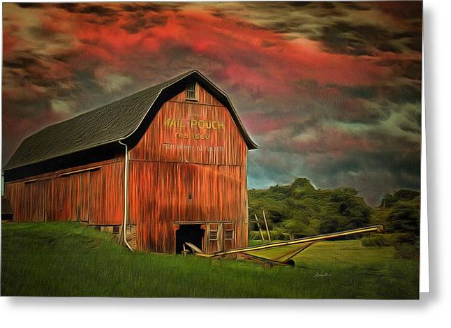 Barnstorming Greeting Card by Anthony Caruso