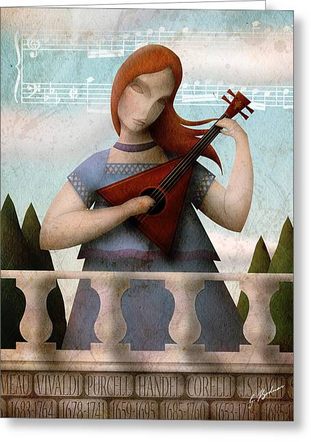Whimsical Art Greeting Cards - Baroque In Heart Greeting Card by Gary Bodnar