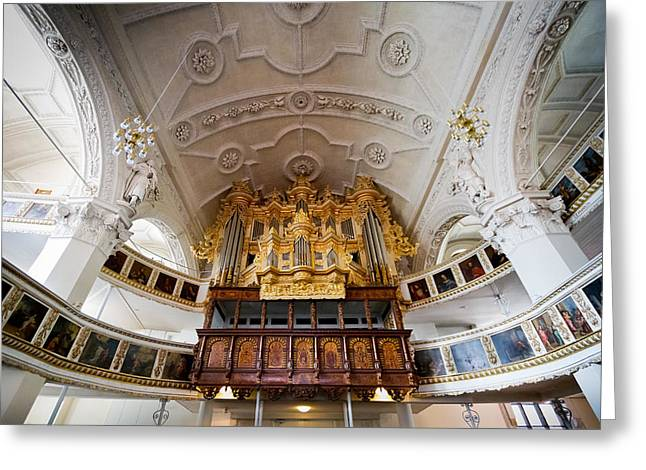 Baroque Pipe Organ In Celle Greeting Card by Jenny Setchell