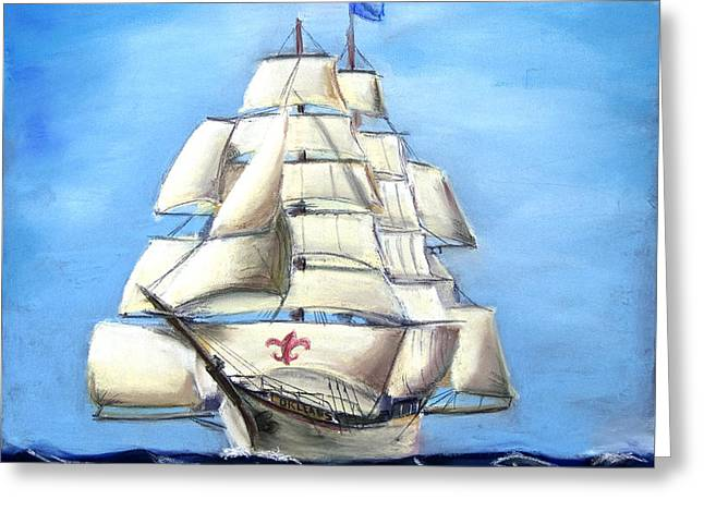 Becky Pastels Greeting Cards - Barque New Orleans Greeting Card by Steve Ellenburg
