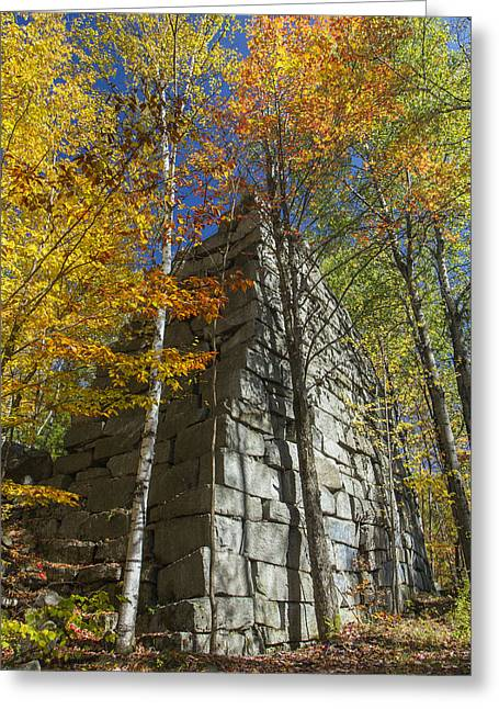 Rocks Greeting Cards - Barre Vermont rock quarry Autumn foliage Greeting Card by Andy Gimino