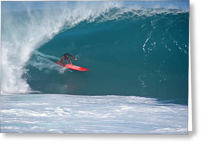 Banzai Pipeline Greeting Cards - Barrel and Bullet Greeting Card by Kevin Smith