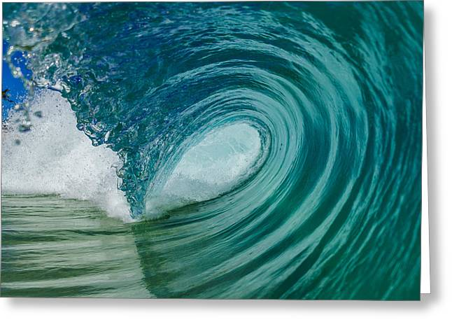 Surfing Art Greeting Cards - Barreling Beauty 2 Greeting Card by Chris and Wally Rivera