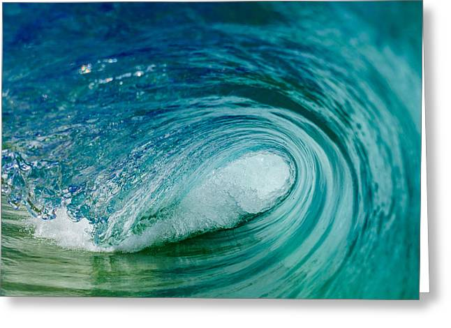 Surfing Art Greeting Cards - Barreling Beauty 3 Greeting Card by Chris and Wally Rivera