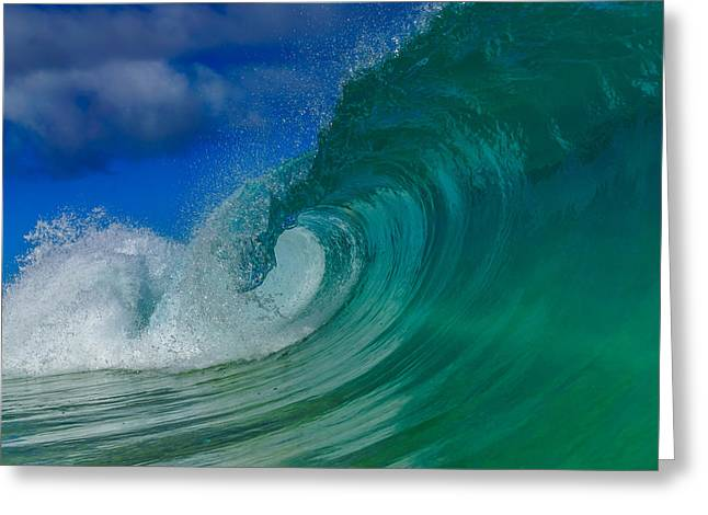 Surfing Art Greeting Cards - Barreling Beauty  Greeting Card by Chris and Wally Rivera