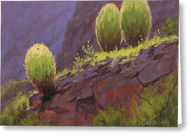 Southwest Art Greeting Cards - Barrels Greeting Card by Cody DeLong