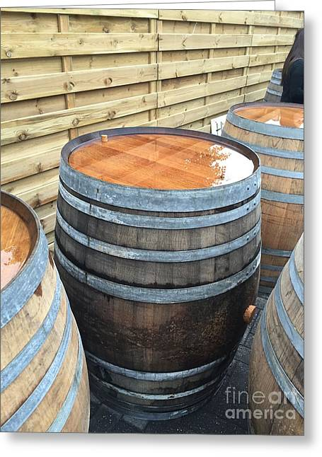 Barrels In Belgium Greeting Card by Evan N
