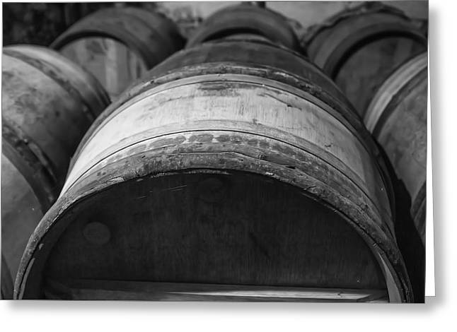 Cellar Greeting Cards - Barrels of Wine Greeting Card by Nomad Art And  Design