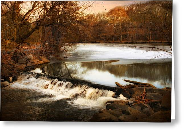 Winter Landscape Digital Greeting Cards - Barren Greeting Card by Jessica Jenney