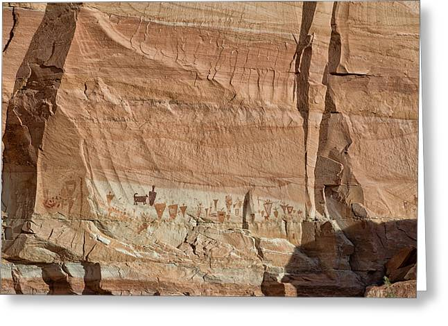 Incised Greeting Cards - Barrier Canyon Paintings Greeting Card by Kathleen Bishop