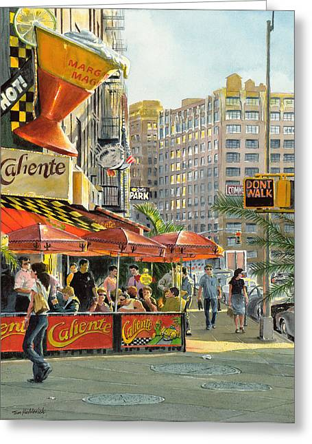 Greenwich Village Greeting Cards - Barrow and Bleecker Greeting Card by Tom Hedderich