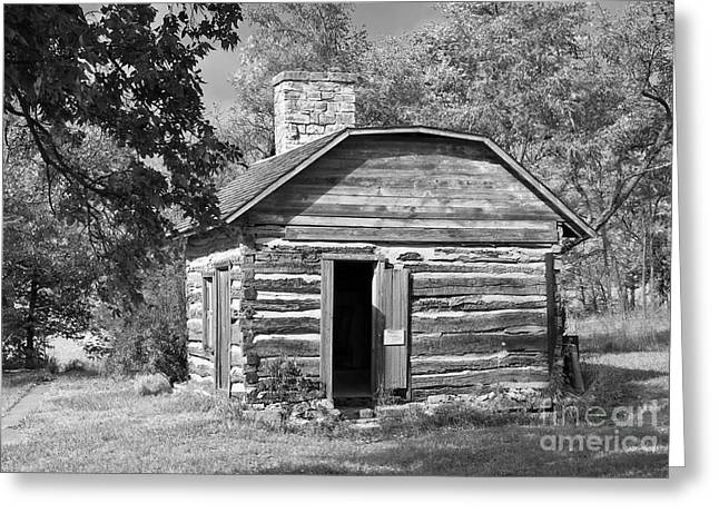 Underground Railroad Photographs Greeting Cards - Barrs Cabin Greeting Card by Fred Lassmann