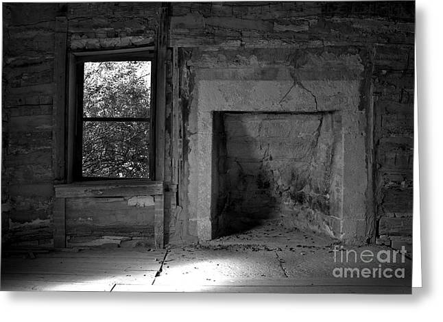Underground Railroad Photographs Greeting Cards - Barrs Cabin Interior Greeting Card by Fred Lassmann