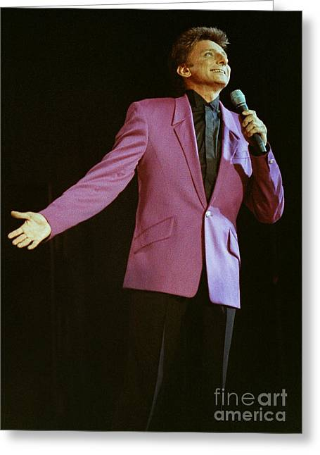 Barry Manilow-0775 Greeting Card by Gary Gingrich Galleries