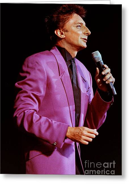 Barry Manilow-0785 Greeting Card by Gary Gingrich Galleries