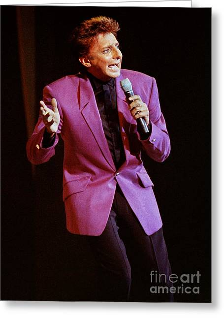 Barry Manilow-0795 Greeting Card by Gary Gingrich Galleries