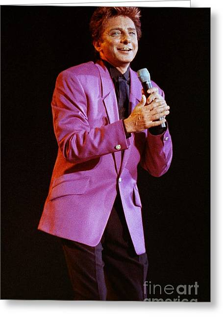 Barry Manilow-0796 Greeting Card by Gary Gingrich Galleries