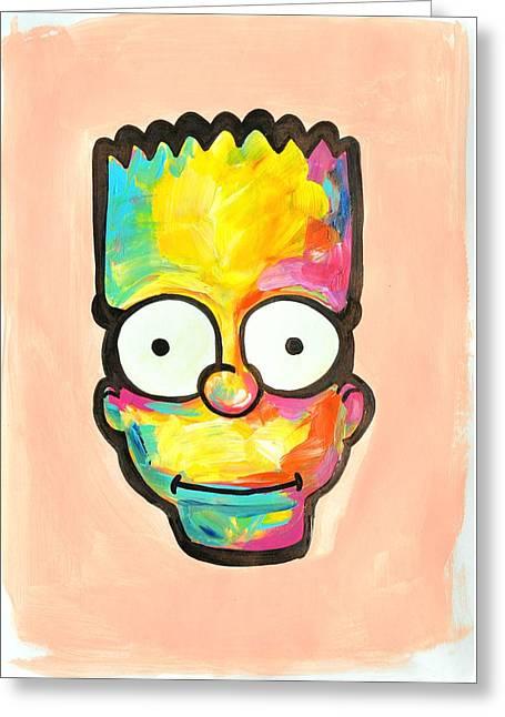 Bart Greeting Card by Ilya Konyukhov