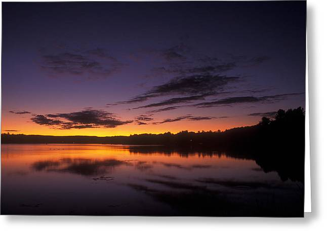 Connecticut River Greeting Cards - Barton Cove Twilight Greeting Card by John Burk