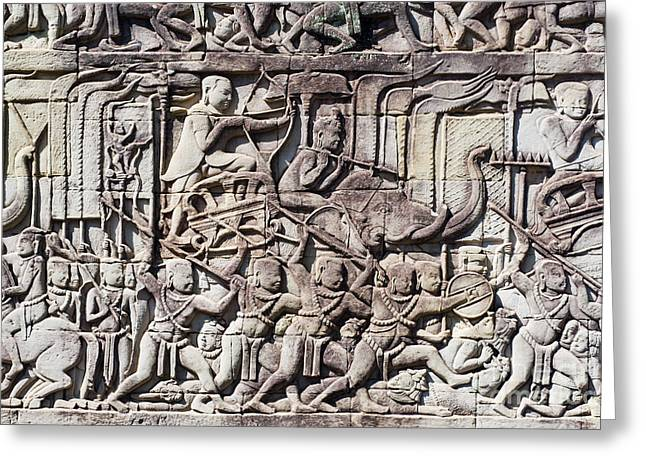 Amazing Stories Greeting Cards - Bas-reliefs II Greeting Card by Bill Brennan - Printscapes