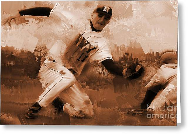 Base Ball 01  Greeting Card by Gull G