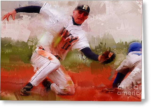Base Ball 02 Greeting Card by Gull G