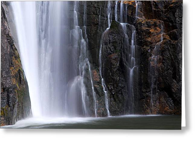 Base Of Porcupine Falls Greeting Card by Larry Ricker