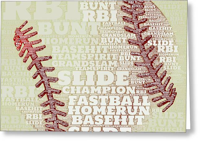 Baseball 2 Greeting Card by Brandi Fitzgerald