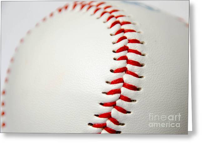 Base Path Greeting Cards - Baseball Greeting Card by Andrea Anderegg