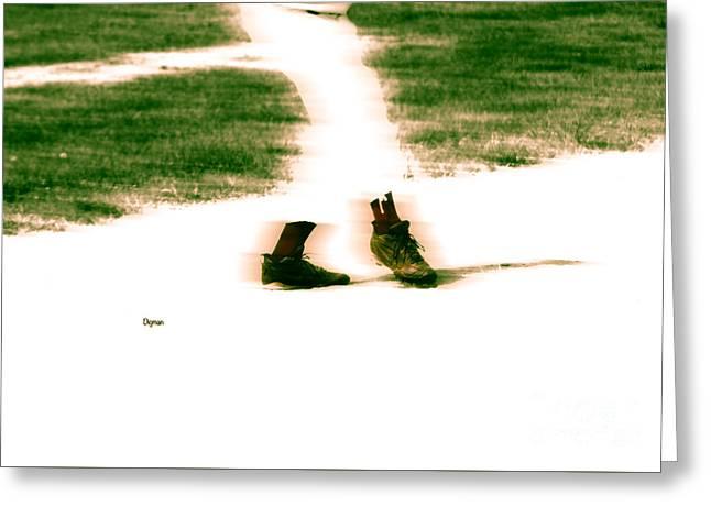 Baseball Game Greeting Cards - Baseball Ballet  Greeting Card by Steven  Digman