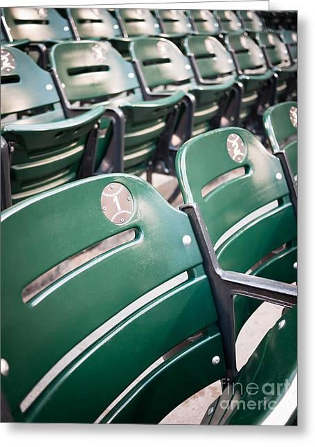 Baseball Ballpark Seats Photo Greeting Card by Paul Velgos
