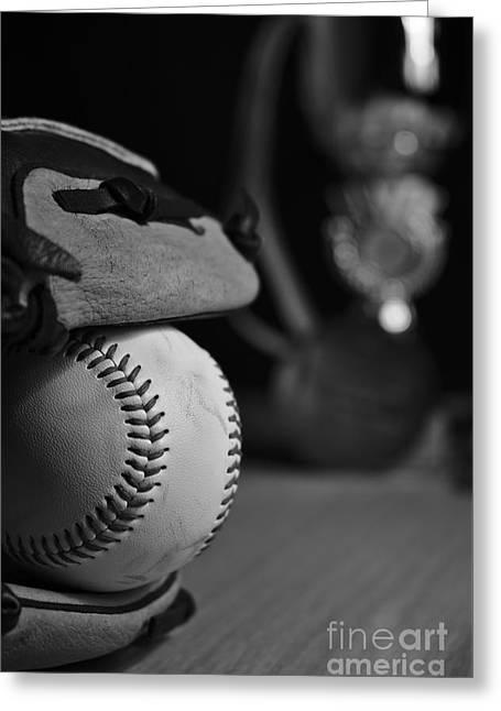 Baseball Glove Greeting Cards - Baseball Champions Greeting Card by Angelo DeVal