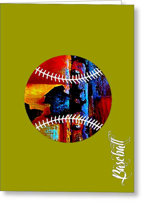 Baseball Collection Greeting Card by Marvin Blaine