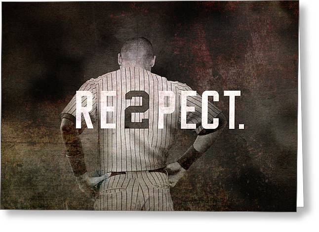 Baseball - Derek Jeter Greeting Card by Joann Vitali