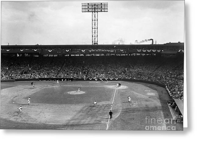 Baseball: Fenway Park, 1956 Greeting Card by Granger