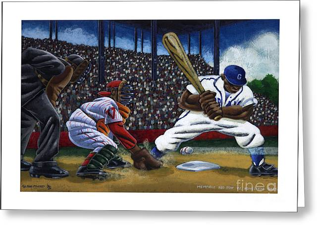 Baseball Game Greeting Card by Keith Shepherd